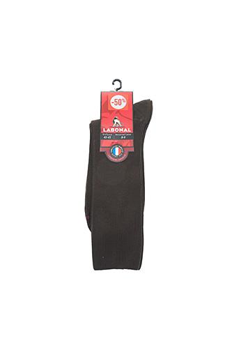 Chaussettes marron LABONAL pour homme