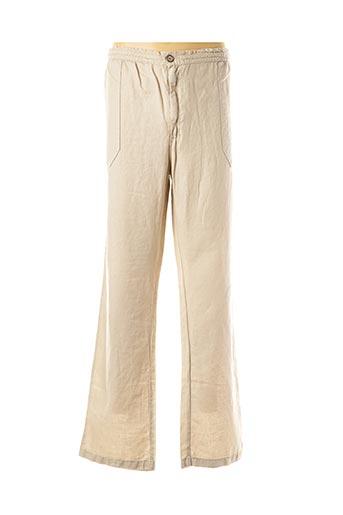 Pantalon casual beige MAXFORT pour homme