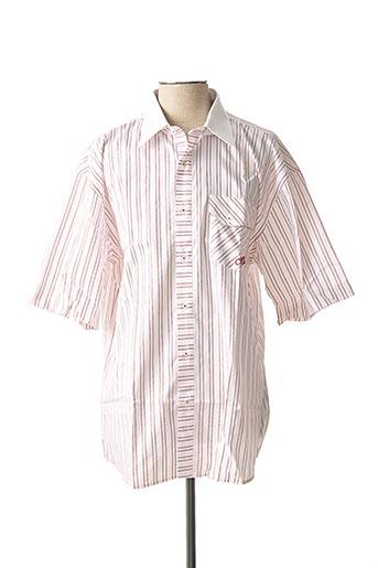 Chemise manches courtes rose COMPTOIR DU RUGBY pour homme