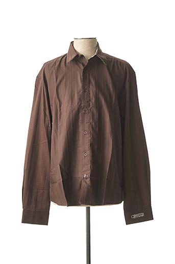 Chemise manches longues marron COMPTOIR DU RUGBY pour homme