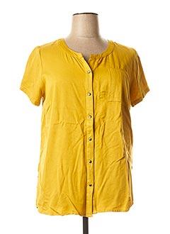 Chemisier manches courtes jaune CISO pour femme