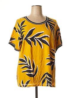 T-shirt manches courtes jaune CISO pour femme