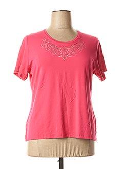 T-shirt manches courtes rose GUY DUBOUIS pour femme