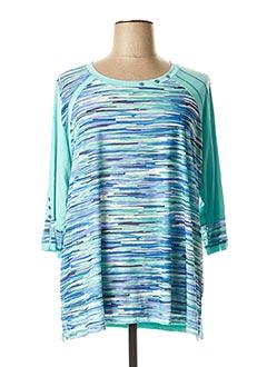T-shirt manches longues bleu JEAN GABRIEL pour femme