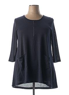 Pull tunique bleu CISO pour femme