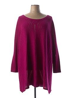 Pull tunique violet JEAN MARC PHILIPPE pour femme