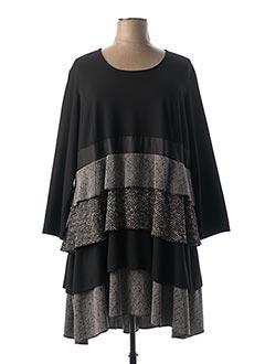 Robe mi-longue noir JEAN MARC PHILIPPE pour femme