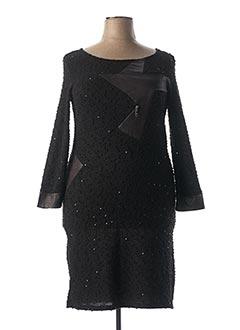 Robe pull noir CARMEN pour femme