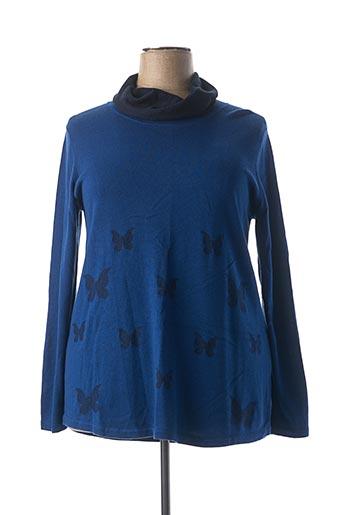 Pull col roulé bleu CISO pour femme
