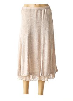 Jupe longue beige ELIE BONNIE pour femme
