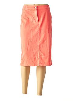 Jupe mi-longue orange DIANE LAURY pour femme