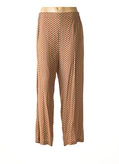 Pantalon casual jaune AGATHE & LOUISE pour femme