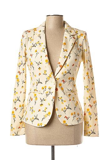 Veste casual jaune ICHI pour femme