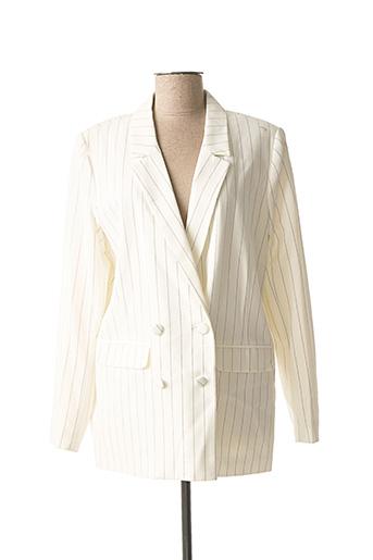 Veste chic / Blazer blanc ICHI pour femme