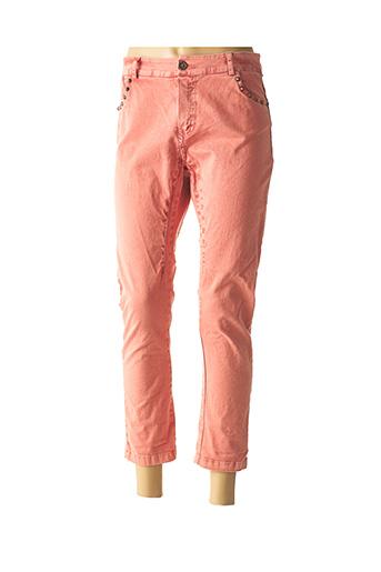 Pantalon casual rouge BANDITAS FROM MARSEILLE pour femme