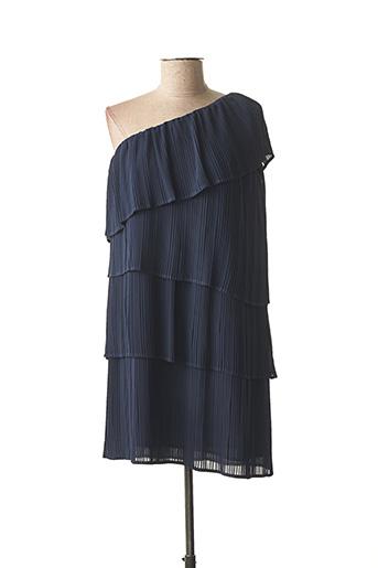 Robe courte bleu ICHI pour femme