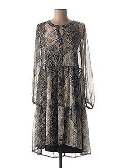Robe mi-longue gris CREAM pour femme