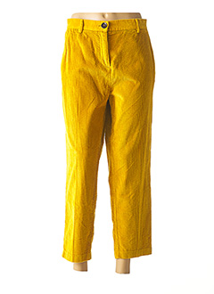Pantalon 7/8 jaune SISLEY pour femme