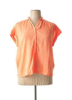 Chemisier manches courtes orange BELLA JONES pour femme
