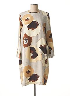 Robe mi-longue beige ROSSO 35 pour femme