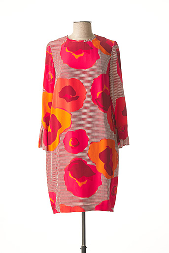 Robe mi-longue rose ROSSO 35 pour femme