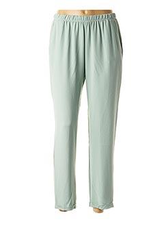 Pantalon 7/8 vert ROSSO 35 pour femme