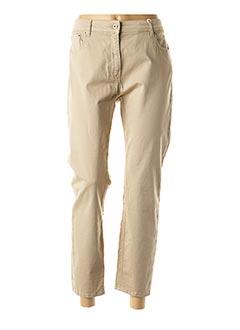 Pantalon casual beige SCAPA pour femme