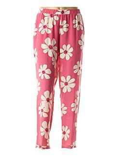 Pantalon casual rose ROSSO 35 pour femme