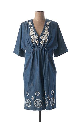 Robe courte bleu DESIGUAL pour femme