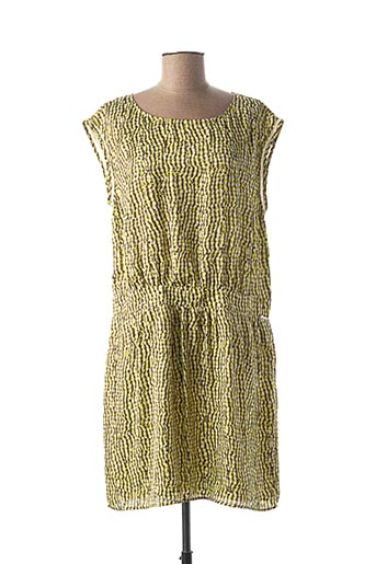 Robe mi-longue vert ONE STEP pour femme