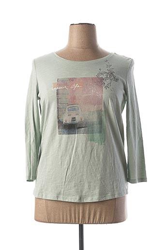 T-shirt manches longues vert ESPRIT pour femme
