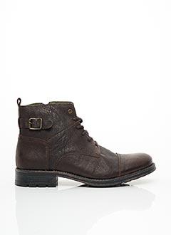 Bottines/Boots marron SANTAFE pour homme