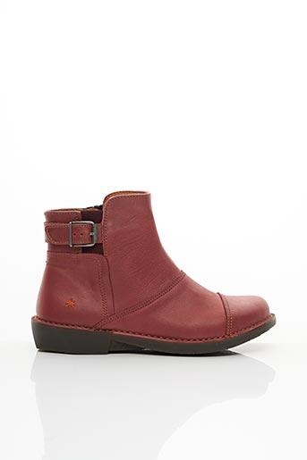 Bottines/Boots rouge ART pour femme