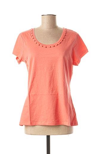 T-shirt manches courtes rose EVA KAYAN pour femme