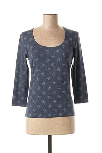 T-shirt manches longues bleu MYRINE & ME pour femme