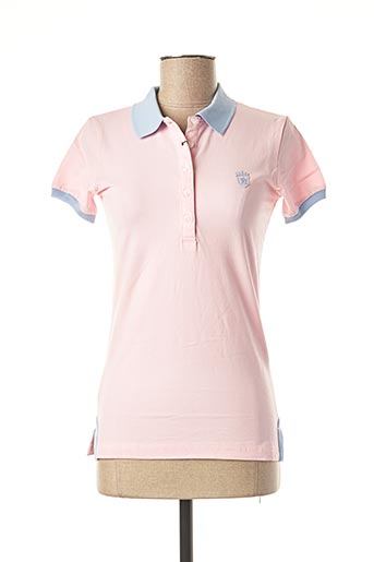 Polo manches courtes rose ARISTOW pour femme