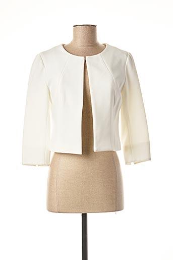 Veste chic / Blazer beige JUS D'ORANGE pour femme