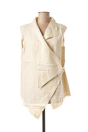 Veste chic / Blazer beige LA STAMPA pour femme