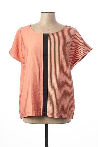 Blouse manches courtes orange KOKOMARINA pour femme
