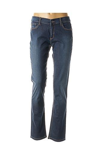 Jeans coupe droite bleu SHAMS pour femme
