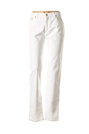 Jeans coupe slim blanc DESGASTE pour femme