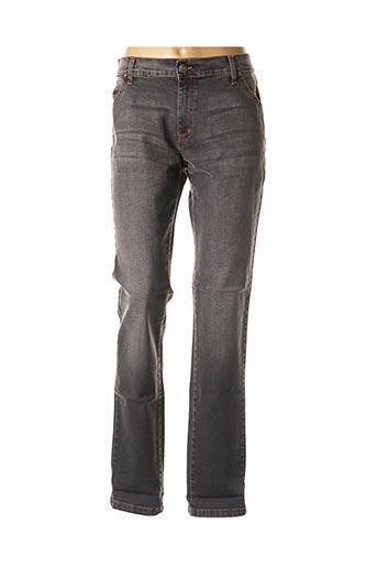 Jeans coupe slim gris DESGASTE pour femme