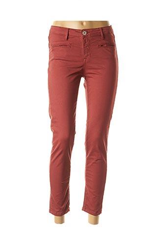 Pantalon 7/8 rouge DENIM STUDIO pour femme