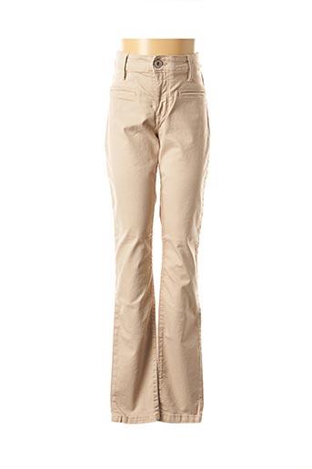 Pantalon casual beige DENIM STUDIO pour femme