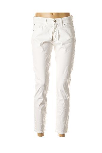 Pantalon casual blanc DESGASTE pour femme