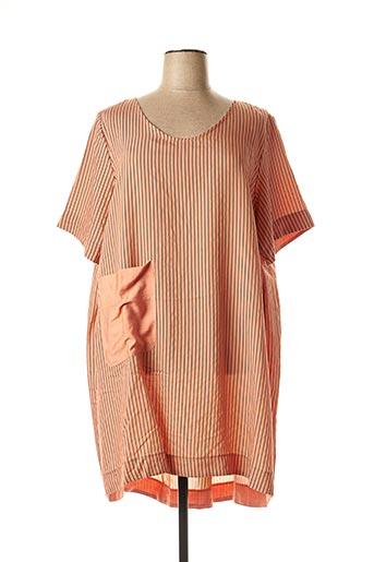Robe mi-longue orange KOKOMARINA pour femme