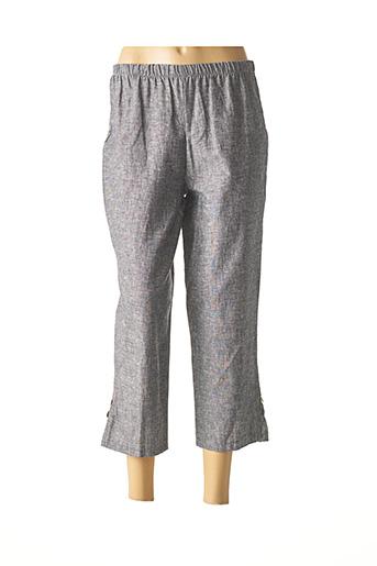Pantalon 7/8 bleu EVA TRALALA pour femme