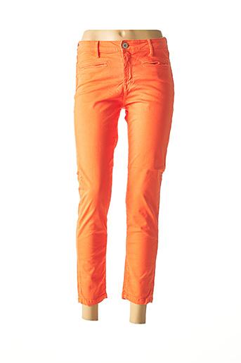 Pantalon 7/8 orange DENIM STUDIO pour femme