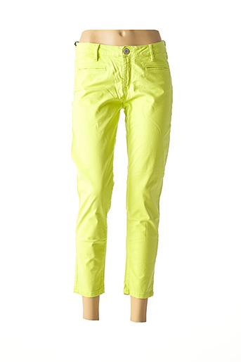 Pantalon 7/8 vert DENIM STUDIO pour femme
