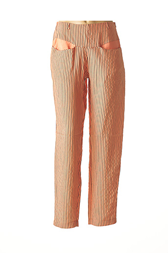 Pantalon casual orange KOKOMARINA pour femme